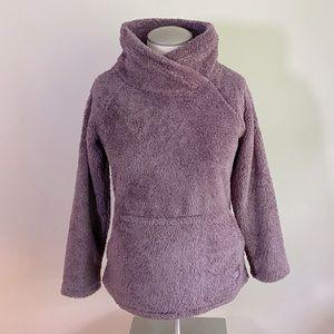 O'Neill Purple Soft Fuzzy Mock T neck Sweater L